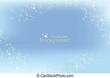 Structure molecule atom dna and communication background. Concept of neurons. Connected lines with dots. Illusion nervous system. Medical scientific illustration backdrop.