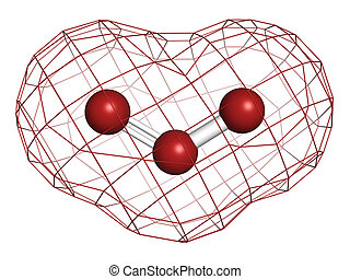 structure., molecule, o3), chemisch, ozon, (trioxygen