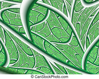 Structure of a leaf. Texture fractal design
