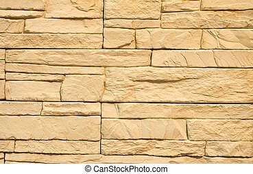 Structure of a stone wall