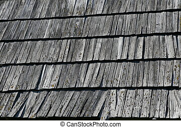 Structure of a wooden roof