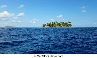 Structure of the most important island in San Blas, Panama.