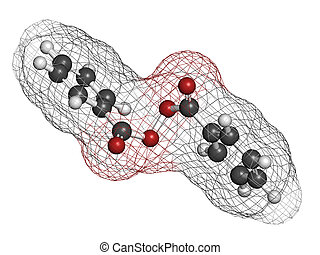 structure., peróxido, acné, químico, tratamiento, benzoyl, ...