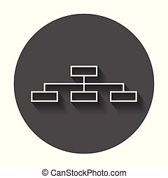 Structure simple flat icon. Vector illustration with long shadow.