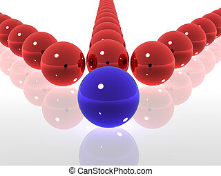 Structure. Spheres. 3d
