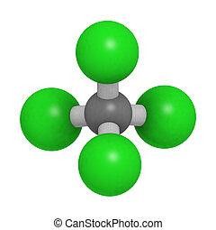 structure., tet), (ccl4, molekyl, tetrachloride, kemisk, kol