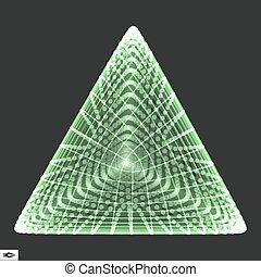 structure., tetrahedron., grid., platonic, regolare, elemento, pyramid., wireframe, 3d, solid., polygonal, grata, collegamento, maglia, convesso, regolare, polyhedron., geometrico, molecolare, element., design.
