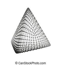 structure., tetrahedron., grid., platonic, regular,...