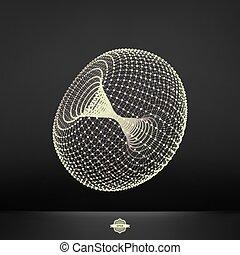 structure., verbinding, torus.