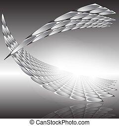 structure., vettore, illustrazione affari, futuro, tecnologia