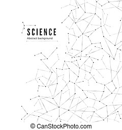 structure., visualization., nauka, abstrakcyjny, ilustracja, tło., wektor, cielna, molekularny, dane