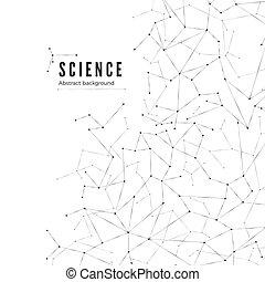 structure., visualization., scienza, astratto, illustrazione, fondo., vettore, grande, molecolare, dati