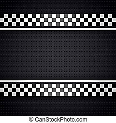 Structured metallic perforated for race sheet gray template,...