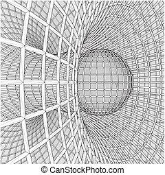 structureel, bal, tunnel