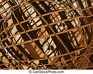 structures and reflection - an abstract image of the...