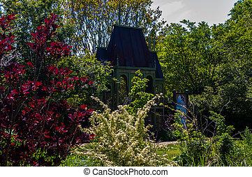 structuur, botanische tuin, voliere, fijn