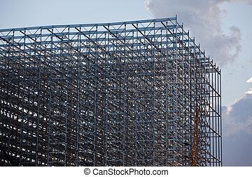 structuur, staal, magazijn