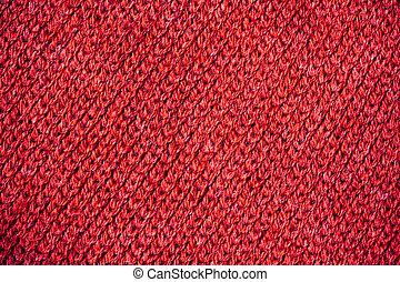 struktúra, közül, piros, kötött, szvetter