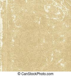 struktur, av, den, gammal, papper