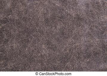 struktur, av, grå, läder