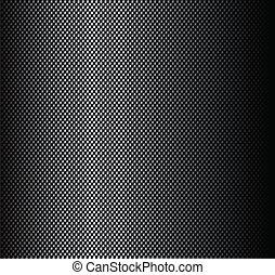 struktur, av, kol, fiber, märke