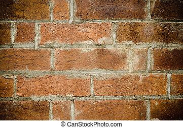 struktur, bakgrund, gammal, vägg, tegelsten