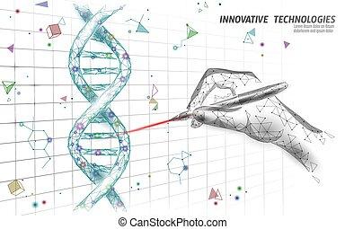struktur, crispr, banner, genetisch, moderne technologie, ...