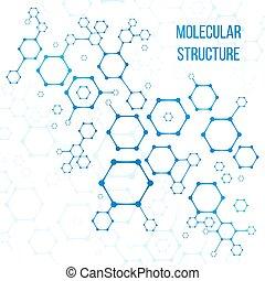 struktur, eller, elementara, kodning, molekylar, strukturell...