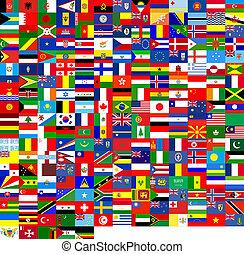 struktur, flaggan