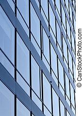 struktur, glas, surface., geschaeftswelt, gebäude.