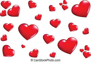 struktur, hjärtan