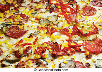 struktur, pizza, mat