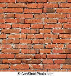 struktur, seamless, tegelsten vägg