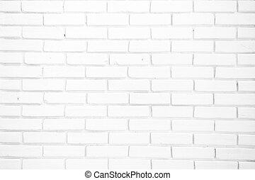 struktur, vita vägg, bakgrund, tegelsten