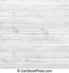 struktura, drewno, sosna, tło, biały, deska