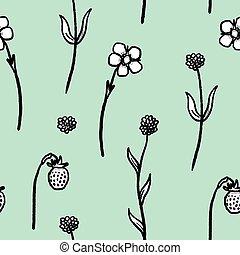 struktura, roślina, quirky