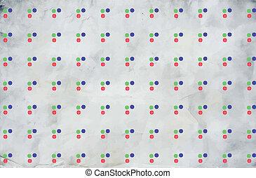 struktura, z, barwny, kropkuje, abstrakcyjny, tło., wektor