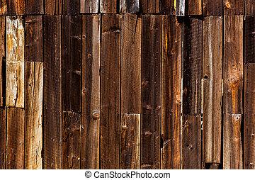 strukturer, gammal, långt, väst, trä, kalifornien