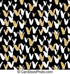 strukturer, skiss, eps10, elements., guld, oavgjord, klotter, seamless, illustration, hand, blog, vektor, design, bakgrund, bläck, toppmodern, svart
