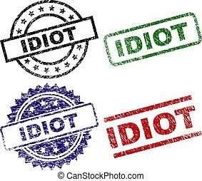 strukturerad, skrapet, idiot, frimärken, försegla