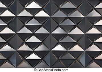 strukturerad, triangel