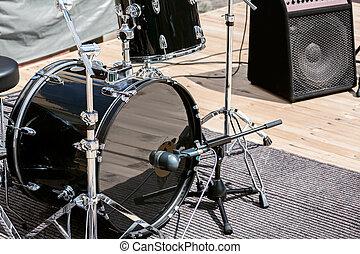 strumenti, musicale, palcoscenico