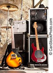 strumenti, palcoscenico