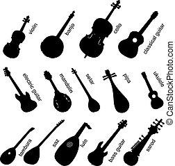 strumenti, set, musicale, no.1.