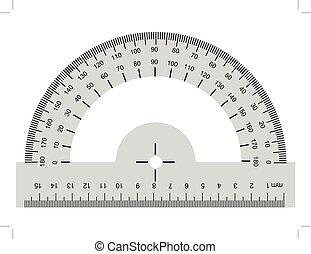 strumento, goniometro, geometrico