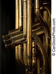strumento, ottone, musicale