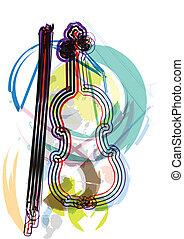 strumento, vettore, musica, illustrazione