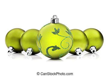 struntsak, utrymme, text, grön fond, vit jul