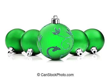 struntsak, utrymme, text, lysande, grön fond, vit jul