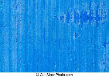 struttura, blu, metallo, foglio, ondulato, color., fondo